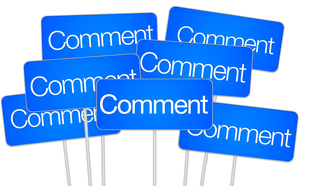 encourage people to comment on Facebook